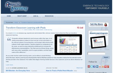 http://blogs.atomiclearning.com/transform-classroom-learning-ipads