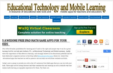 http://www.educatorstechnology.com/2012/07/5-awesome-free-ipad-math-game-apps-for.html