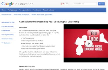 http://www.google.com/edu/teachers/youtube/curric/index.html