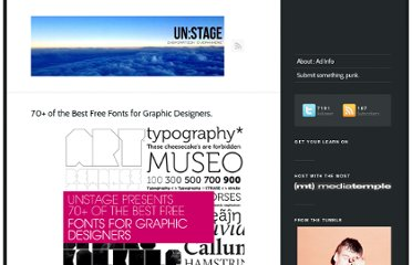 http://www.unstage.com/2010/02/70-of-the-best-free-fonts-for-graphic-designers/