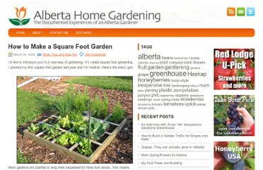 http://www.albertahomegardening.com/how-to-make-a-square-foot-garden/#more-22
