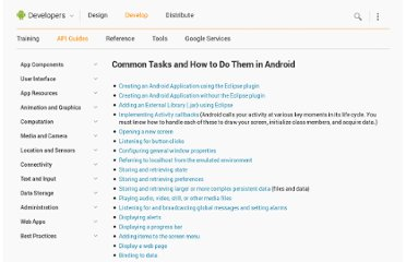 http://developer.android.com/guide/faq/commontasks.html