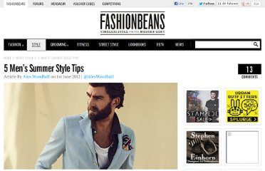 http://www.fashionbeans.com/2012/five-mens-summer-style-tips/
