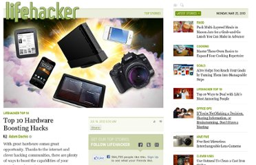 http://lifehacker.com/5925995/top-10-hardware-boosting-hacks