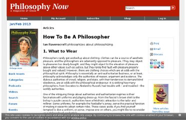 http://philosophynow.org/issues/81/How_To_Be_A_Philosopher