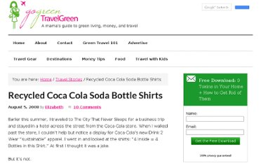 http://gogreentravelgreen.com/recycled-coca-cola-soda-bottle-shirts/