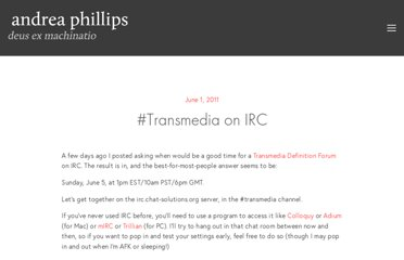 http://deusexmachinatio.com/blog/2011/6/1/transmedia-on-irc.html