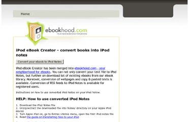 http://ebookhood.com/ipod-ebook-creator