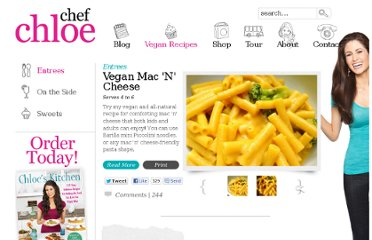 http://chefchloe.com/entrees/vegan-mac-n-cheese.html