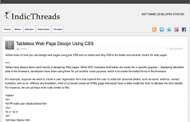 http://www.indicthreads.com/4400/tableless-web-page-design-using-css/