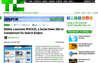 http://techcrunch.com/2012/07/14/blekko-launches-rockzi-a-social-news-site-to-complement-its-search-engine/