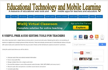 http://www.educatorstechnology.com/2012/07/6-useful-free-audio-editing-tools-for.html