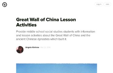 http://suite101.com/article/great-wall-of-china-lesson-activities-a216266