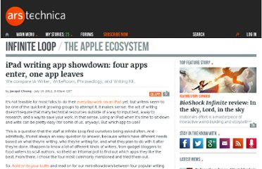 http://arstechnica.com/apple/2012/07/ipad-writing-app-showdown-four-apps-enter-one-app-leaves/
