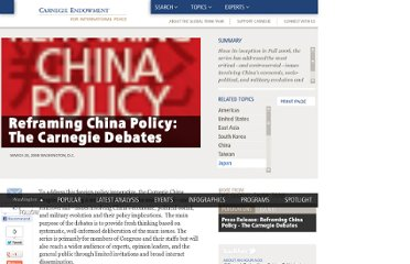 http://carnegieendowment.org/2008/03/26/reframing-china-policy-carnegie-debates/vce