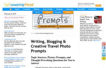 http://www.creativity-portal.com/howto/writing/writing.prompts.html