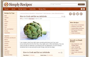 http://www.simplyrecipes.com/recipes/how_to_cook_and_eat_an_artichoke/