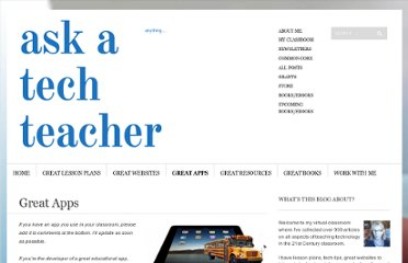 http://askatechteacher.wordpress.com/great-apps/