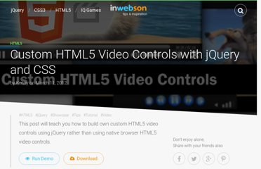 http://www.inwebson.com/html5/custom-html5-video-controls-with-jquery/