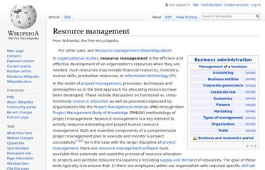 http://en.wikipedia.org/wiki/Resource_management