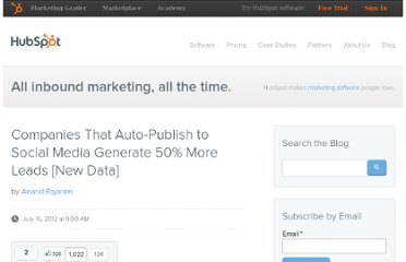 http://blog.hubspot.com/blog/tabid/6307/bid/33346/Companies-That-Auto-Publish-to-Social-Media-Generate-50-More-Leads-New-Data.aspx