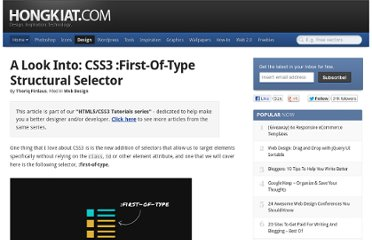 http://www.hongkiat.com/blog/css3-first-of-type/