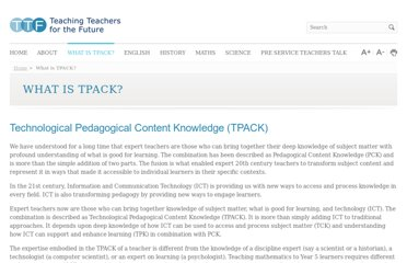 http://www.ttf.edu.au/what-is-tpack/what-is-tpack.html