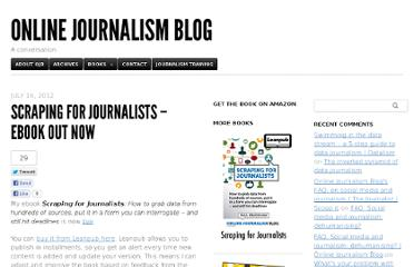 http://onlinejournalismblog.com/2012/07/16/scraping-for-journalists-ebook-out-now/