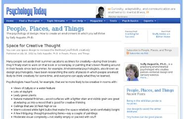 http://www.psychologytoday.com/blog/people-places-and-things/201207/space-creative-thought