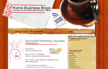 http://www.homebizblogs.com/2012/07/successful-marketing-anecdote/