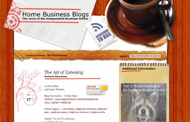 http://www.homebizblogs.com/2012/07/the-art-of-listening/
