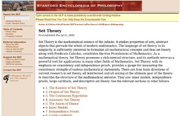 http://plato.stanford.edu/entries/set-theory/