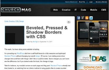 http://churchm.ag/beveled-pressed-shadow-css-borders/