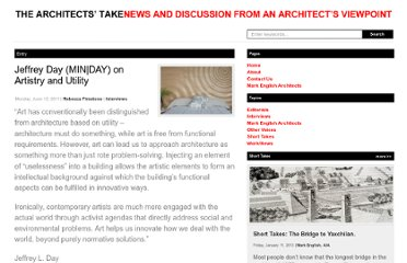http://thearchitectstake.com/interviews/jeffrey-day-artistry-utility/