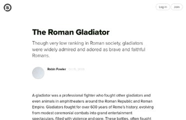 http://suite101.com/article/the-roman-gladiator-a7839