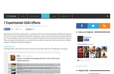 http://favbulous.com/post/1051/7-experimental-css3-effects