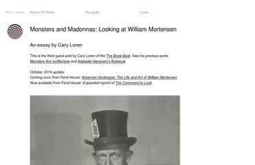 http://50watts.com/Monsters-and-Madonnas-Looking-at-William-Mortensen