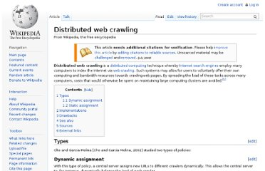 http://en.wikipedia.org/wiki/Distributed_web_crawling