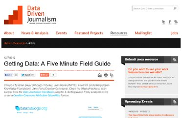 http://datadrivenjournalism.net/resources/Getting_Data_A_Five_Minute_Field_Guide