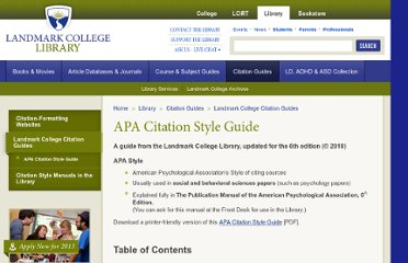 http://www.landmark.edu/library/citation-guides/landmark-college-citation-guides/apa-citation-style-guide/
