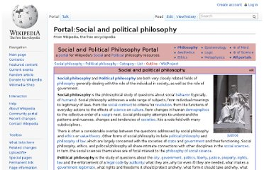 http://en.wikipedia.org/wiki/Portal:Social_and_political_philosophy