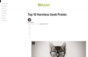 http://lifehacker.com/373817/top-10-harmless-geek-pranks