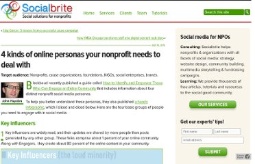http://www.socialbrite.org/2012/07/16/4-kinds-of-online-personas-your-nonprofit-needs-to-deal-with/
