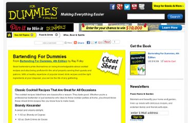 http://www.dummies.com/how-to/content/bartending-for-dummies-cheat-sheet.html