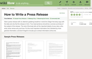 http://www.wikihow.com/Write-a-Press-Release