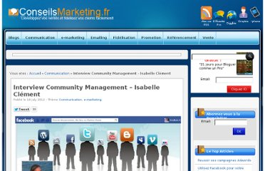 http://www.conseilsmarketing.com/e-marketing/interview-de-community-manager-isabelle-clement