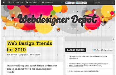 http://www.webdesignerdepot.com/2010/05/web-design-trends-for-2010/