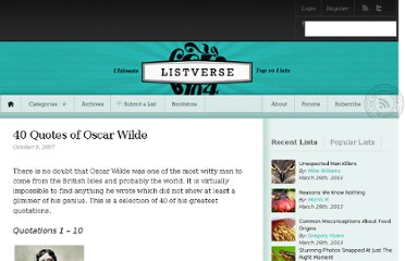 http://listverse.com/2007/10/08/40-quotes-of-oscar-wilde/
