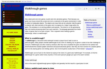 http://kylemawer.wikispaces.com/Walkthrough+games