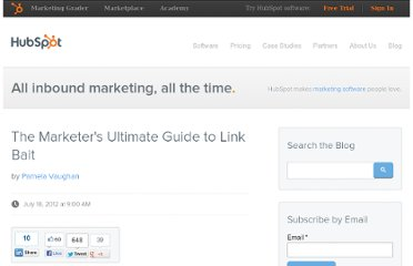 http://blog.hubspot.com/blog/tabid/6307/bid/33393/The-Marketer-s-Ultimate-Guide-to-Link-Bait.aspx